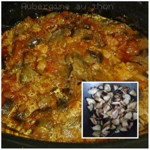 aubergine au thon