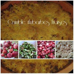 crumble rhubarbe fraise
