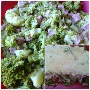 gratin brocolis jambon