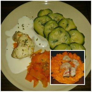 saumonette courgettes carottes