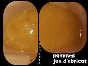 compote pomme jus abricot