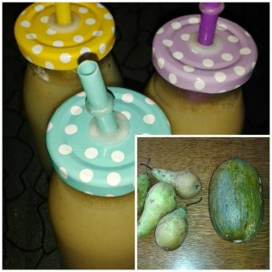 smoothie poire melon banane