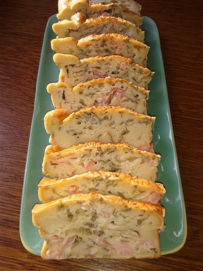 Cake au saumon fumé et  à  l'oseille