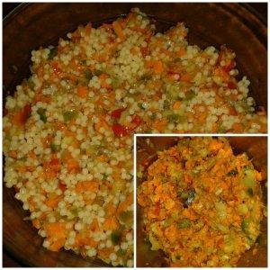 salade pâte concombre carotte tomate poivron