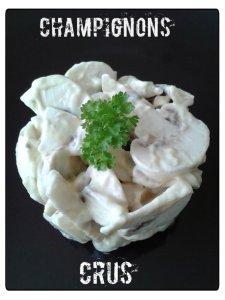champignons crus