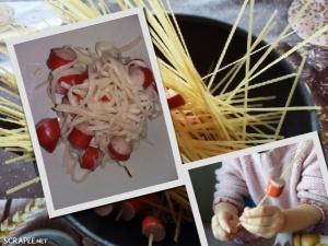spaghettis saucisse