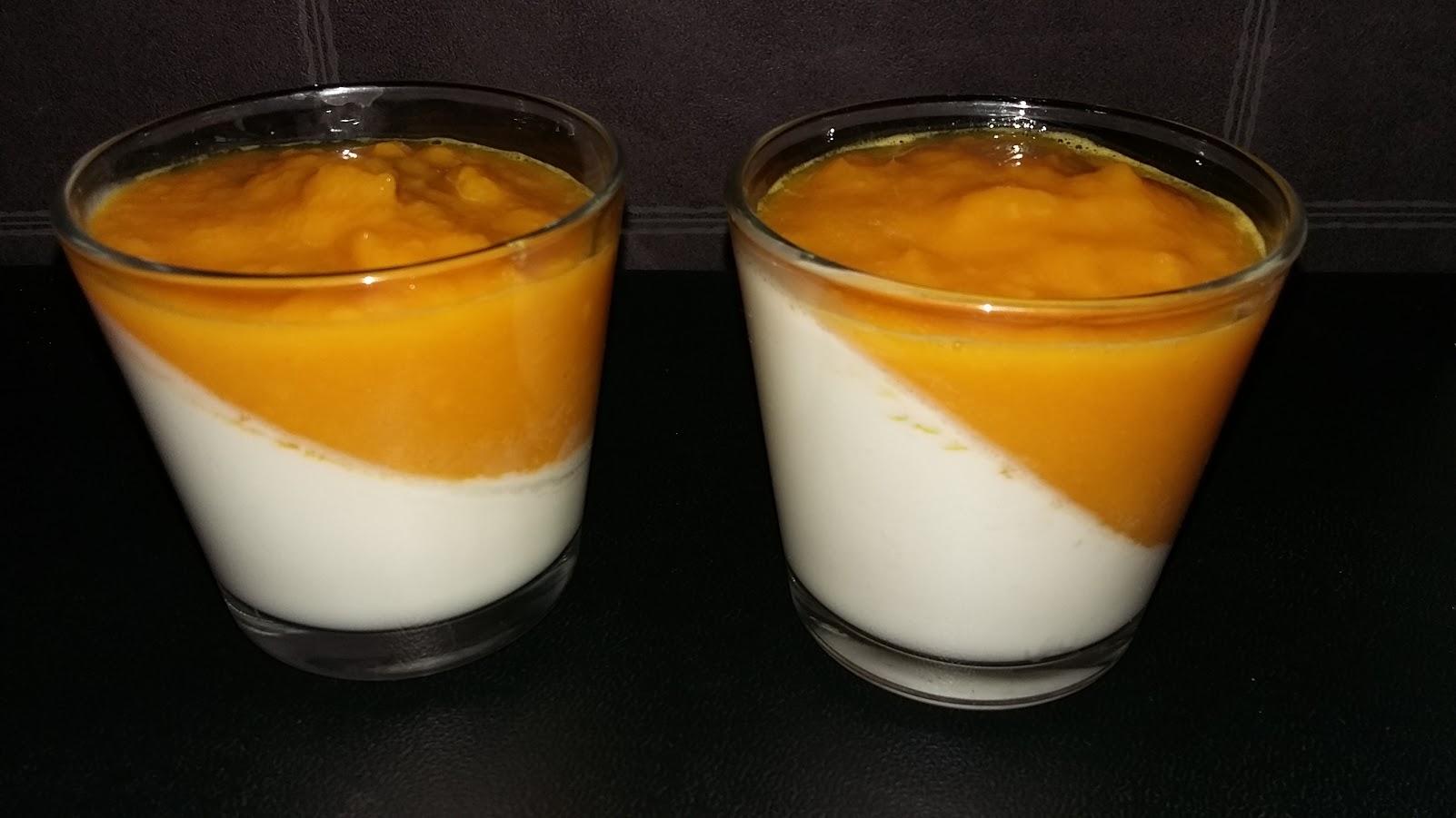 panna cota coco mangue