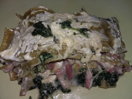 lasagne épinard jambon