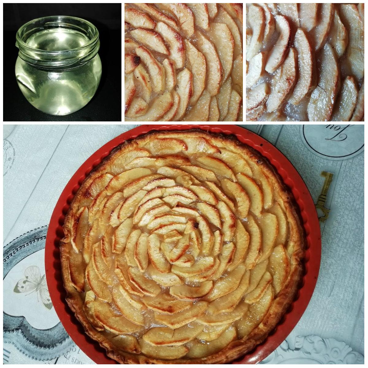 tarte aux pomme nappage